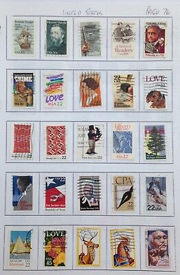 USA  25  used  vertical Stamps page 76