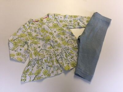 Girls Pretty M&S Outfit  - 9-12 Months * VGC Top & Leggings