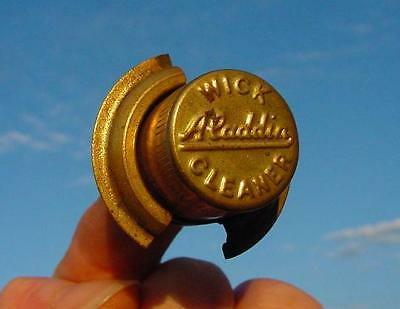 """Vintage Brass Aladdin Kero Lamp Wick Cleaner-5/8"""" Hole-Hard To Find-Free Postage"""
