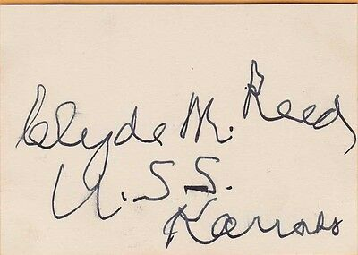 CLYDE M. REED ~ U.S. SENATOR From the STATE of KANSAS ~ 1949 AUTOGRAPH