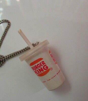 Htf Vintage Burger King Cup & Straw Necklace