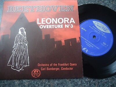 BEETHOVEN UK EP 1962 LEONORA OVERTURE No 3 MINT MINUS