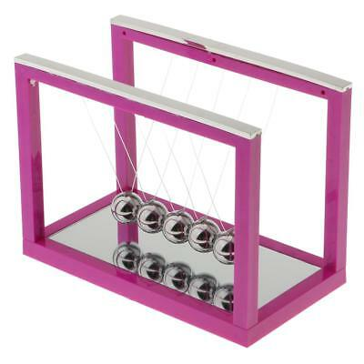 Newton's Balance Ball Cradle Home Office Desktop Ornaments Gift Purple - M