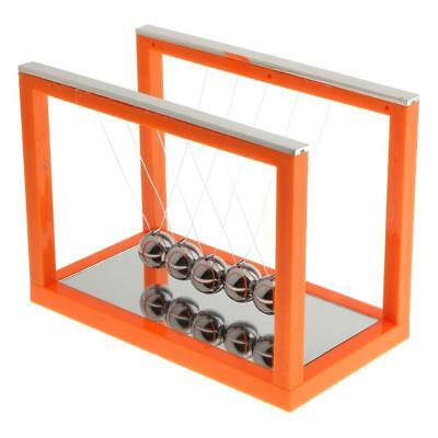 Newton's Balance Ball Cradle Home Office Desktop Ornaments Gift Orange - M