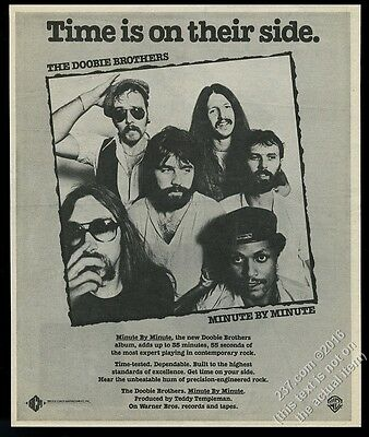 1979 The Doobie Brothers photo Minute by Minute album release vintage print ad