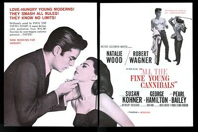 1960 Natalie Wood Robert Wagner photo All The Fine Young Cannibals trade ad