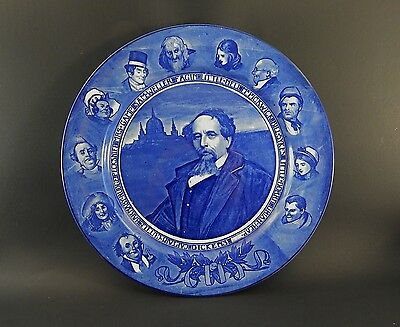 """Antique Royal Doulton Charles Dickens & Characters Plate 10.5"""""""