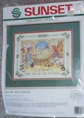 Sunset Joy Of The Season Gallery Crewel Embroidery Kit Sealed 1993 Dimensions