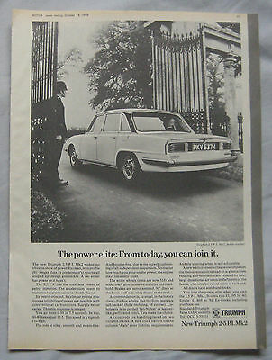 1969 Triumph 2.5PI Mk2 Original advert No.1