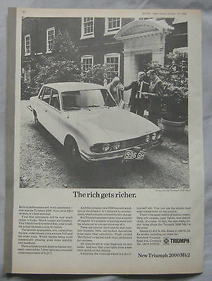 1969 Triumph 2000 Mk2 Original advert
