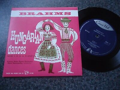 Brahms Uk Concert Hall Ep 1961 Mint Minus Hungarian Dances