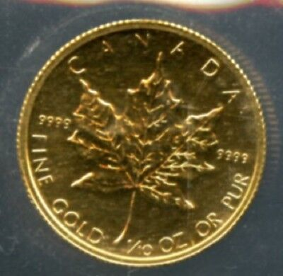 1982 1/10 oz .9999 Fine Gold Canada $5 Gold Maple Leaf Coin SA1276
