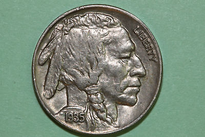 Grades Uncirculated Mint State 1935 P Buffalo or Indian Head Nickel (BNX771)
