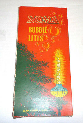 Vintage Noma Book Style Bubble Lights Box Cat. No. 420 Holds 20 Replacements