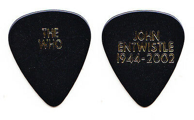 The Who Pete Townshend John Entwistle Tribute Black Guitar Pick - 2002 Tour