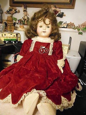 """25"""" """"Effanbee composition and cloth """"Rosemary"""" Walk-Talk_Sleep doll from 1920's"""