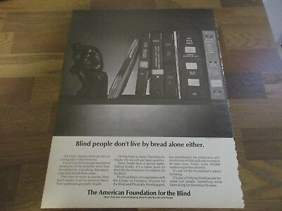 American Foundation For The Blind 1971 Print Ad