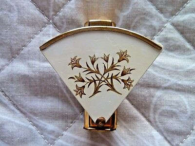 Vintage Stratton Lipstick Holder And Fan Shaped Mirror