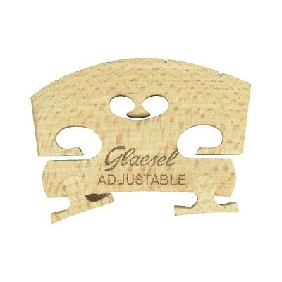 Glaesel Self-Adjusting 3/4 Violin Bridge  Low