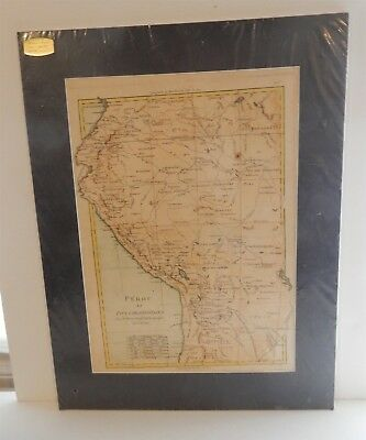 Antique19th Century French Map of Peru