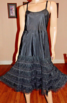 Vintage Wondermaid Rayon & Lace Non-Cling Full Slip, Xl-Bust 42