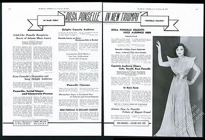 1938 Rosa Ponselle photo opera recital tour booking ad