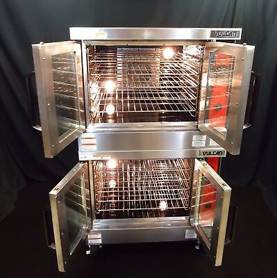 2016 Vulcan Hobart Electric Commercial Double Convection Oven 208V Vc44Ed Bakery