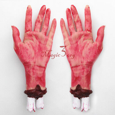 Bloody Arm Hand Horror Scary Halloween Prop Fake Severed Lifelike Haunted House