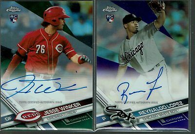 2017 Topps Chrome Jesse Winker AUTO Green Refractor #38/99 RC Rookie Card  (MH)