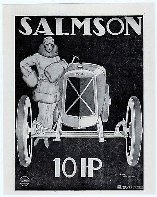 Automobile French Mag Ad Salmson 1923 Rene Vincent