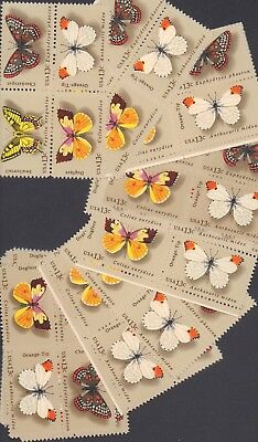 {BJ Stamps} 1712-1715   Butterflies.  100 Unused 13¢ stamps.   Issued in 1977.
