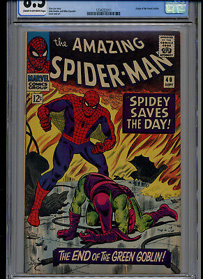 Cgc Graded 8.5 1966 Amazing Spider-Man #40 Origin Of The Green Goblin