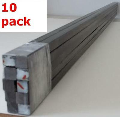 """Metal 1/2"""" Solid Square Bars Hot Rolled Mild Steel Wrought Iron Fabrication Rods"""