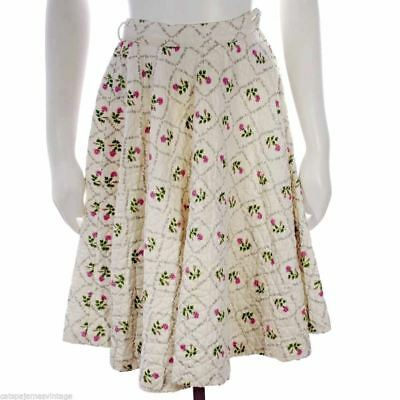 Vintage Girls Circle Skirt  A Rose Is A Rose 1950S 21 Waist