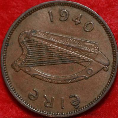 1940 Ireland Penny Foreign Coin Free S/H