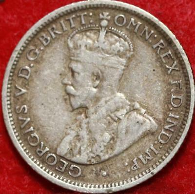 1922 Australia 6 Pence Silver Foreign Coin Free S/H