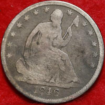1846-O New Orleans Mint Silver Seated Liberty Half Dollar Free S/H