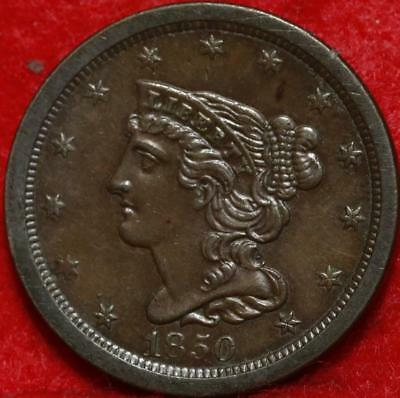 1850 Philadelphia Mint Copper Classic Head Half Cent Free Shipping