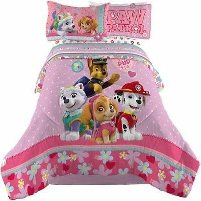 Soft Paw Patrol Girl Comforter and Sheets Bedding Set 5pc Full Size by Nick Jr.