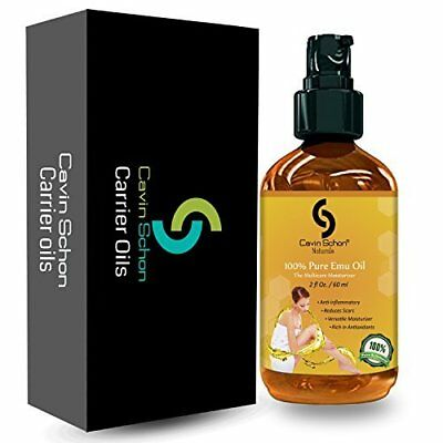 Emu Oil Excellent for Dry Skin Burns Scars Muscles & Joints 2 oz by Cavin Schon
