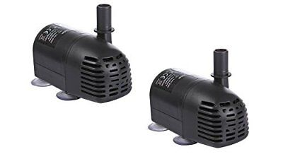 12V-24V DC 196 GPH Brushless Submersible Water Pump for Fountains - Pack of 2