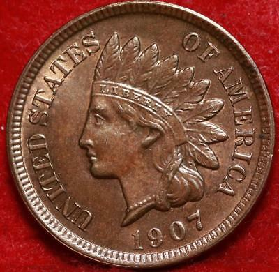 1907 Philadelphia Mint Copper Indian Head Cent Free Shipping