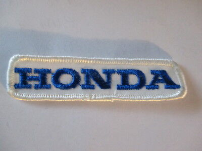 Honda Patch OLD  White with Blue Letters