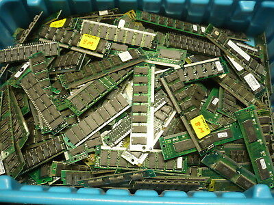 Lot of 7.36Lbs Old Computer Memory SDram Tin Lead for Scrap Gold/Silver Recovery