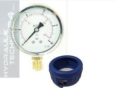 Hydraulic Manometer Glycerin Stainless Steel Eco-Line 0-400 BAR WITH PROTECTOR