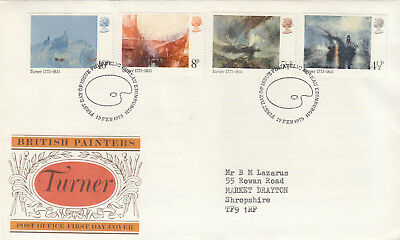(05087) GB FDC JMW Turner Bureau 19 February 1975