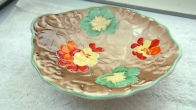 1933 - 42  Hollinshead & Kirkham Leaf Shaped Fruit Plate On A Stand