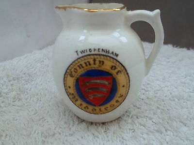 Miniature Jug By  Fenton China   Crested Twickenham  County Of Middlesex
