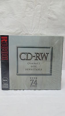 RICOH CD-RW Compact Disc Rewritable Type 74 650MB NEW