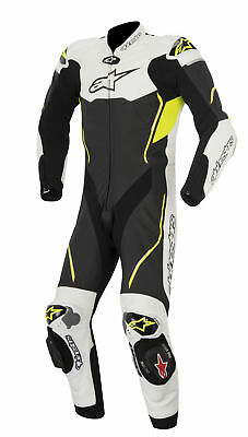 Alpinestars Atem 1 Piece Leather Suit Black/White/Yellow Fluorescent